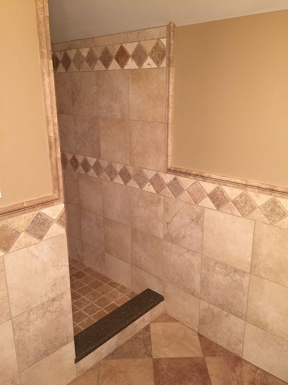 Modern Glass Paint Tile Bathroom Remodel 7