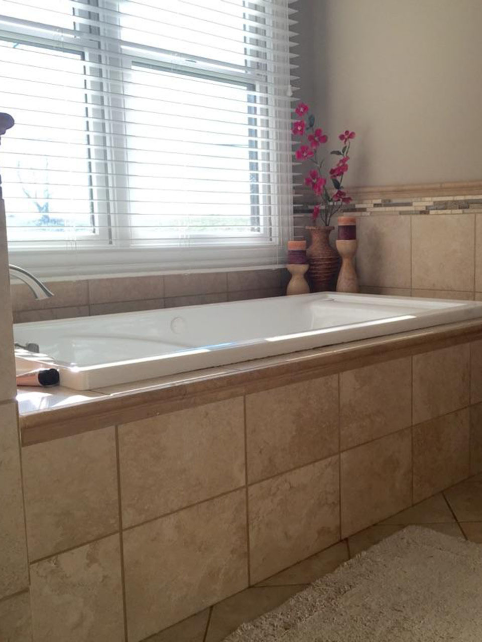 Modern Glass Paint Tile Bathroom Remodel 8